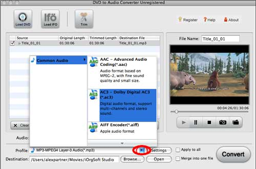 mac dvd to audio converter