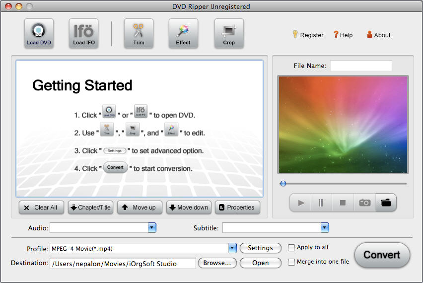 DVD Ripper for Mac 1.3.10 full