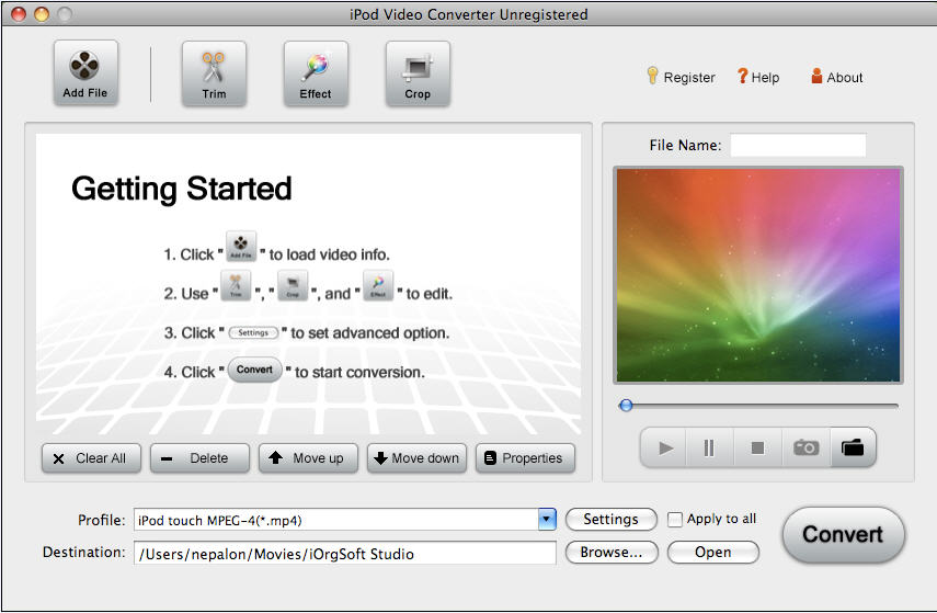 IPod Video Converter for Mac 3.2.8