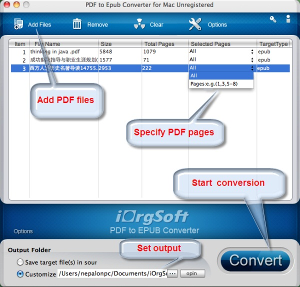 PDF to ePub Converter for Mac 2.0.1